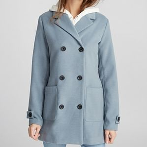 NWT Twik Blue Double-breasted Felt Trench Coat